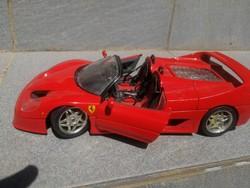 Ferrari f50 Cabrio, tűzpiros Sport auto modell, 1/18 as méret! Nehéz súlyú, fém váz!