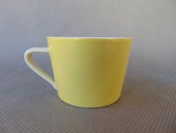 Régi Drasche sárga porcelán csésze
