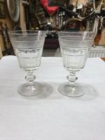 2db régi kristály pohár