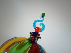 Ritka, muránói, designer parfümös üvegcse, 1990-es évek