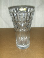 Cseh Bohemia jelzett 24%PbO kristály üveg váza 23 cm 1,8 kg (4/d)