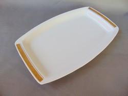 Alföldi aranyozott fehér porcelán kínáló , tálca