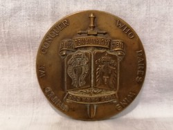 Bronz plakett különlegesség Belgium , kommandó 1 RGT PARA CDO