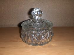 Antik fedeles üveg cukortartó (19/d)