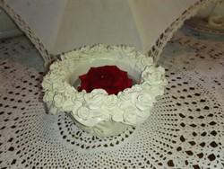 Kerámia rózsás mécsestartó....virágtartó.