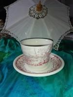 Angol jelenetes,porcelán teás , kávés szett.