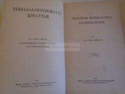 G016  Dr. Jászi Oszkár: A történelmi materializmus állambölcselete 1908, Grill Károly k.v.