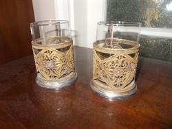 Antik orosz teás pohár párban 1.
