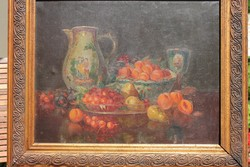 Biedermeier 1850 körüli asztali csendélet
