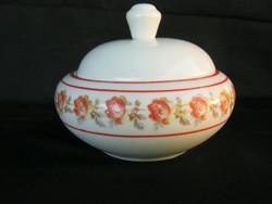 Drasche porcelán rózsás bonbonier vagy cukortartó