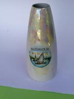 Balatoni emlék, Unterweissbach lüszter mázas porcelán váza