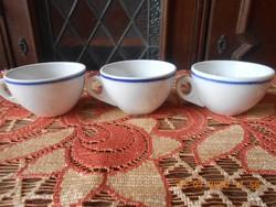 Zsolnay retro, kék csíkos kávés csészék