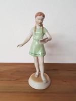Drasche kislány figura - retro porcelán