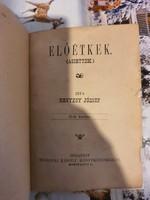 Hegyesy József Előétkek 2. kiadás 1889-ből