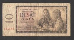10 korona 1960.  SZÉP BANKJEGY!!