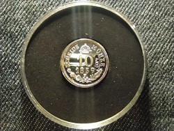 Ritka 10 Krajcár 1859 V ezüstözött tükörveret replika (id26759)