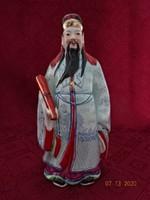 Orosz porcelán szobor, tudós papírusszal a kezében.