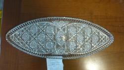 Csiszolt Ólomkristály ovális süteményes kínáló tál