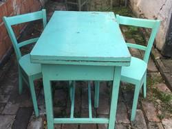 Népi ebédlő asztal és szék
