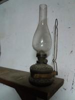 Régi petróleum lámpa, üvegaljjal