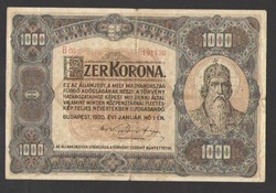 1000 korona 1920.   100 ÉVES!!  NAGYON SZÉP!!