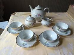 Hollóházi retro 4 szem. teás készlet