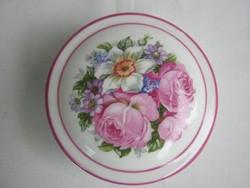 Zsolnay porcelán rózsás bonbonier vagy ékszertartó