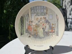 Sarreguemines, Fayance tál, tányér! Pletyka az ablaknál! Hangulatos de nagyon!
