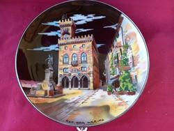 182 Titano Ceramica Rep. San Marino Kormányzati palota (Palazzo del Governo) 26 cm  fali tányér