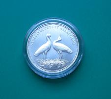 1992 - Ezüst 200 Ft - Veszélyeztetett állatvilág (Fehér gólya) - BU