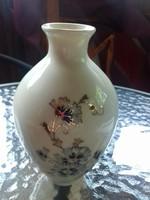 Zsolnay kézzel festett váza-búzavirágos