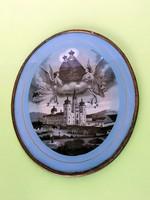 Vintage Szűz Mária zarándokhelyi kegykép