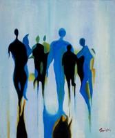 Smith: Lendület (Vonuló emberek) - olaj-vászon festmény