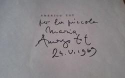 Amerigo Tot dedikált füzet