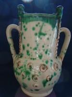 Francia art new  majolika hibátlan váza