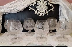 Olomkristály konyakos pohár