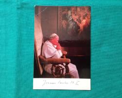 II. János Pál pápa képeslap
