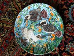 Díszes tányér, porcelán dísztányér Priscilla Parker illustrated decorative porcelain plate