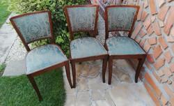 3 db párnás retro szék, nosztalgia, étkezőszék szék,