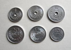 Mongólia -1959 - Teljes sor- 1-2-5-10-15-20 Mongo - 6 db