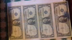 Papir penz.USA DOLLÁR.1935.certi. kék  állami pecsét 1.dollár