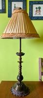 Antik art deco Victoriánus hatású tömör réz asztali lámpa