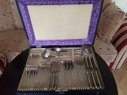 Antik wellner alpakka 6sz -es evő eszköz