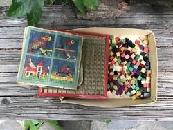Régi gyermekjáték mozaik játék fajáték