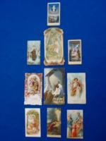 10 db antik imalap, vallási emléklap, színes litográfia (1900-1940)