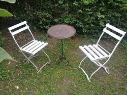 Kerti összecsukható vas szék, székek. Vastagabb anyagból!