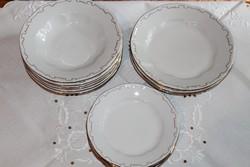 Zsolnay barokk tollazott tányérkészlet