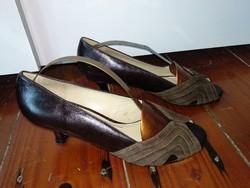 Apology Vintage barna színű női bőrcipő 6 1/2 magas sarkú bőr lábbeli