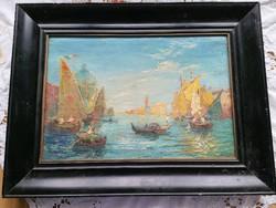 Velence olaj festmény, vászonra