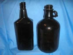 Fényvédős nagyméretű demizson és jelzett palack 33+32 cm 2.5 + 1.5 liter